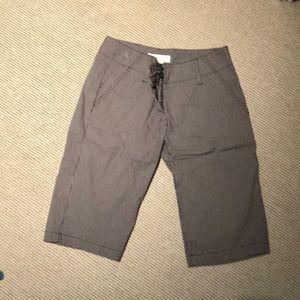 Michael kors walking shorts Brown white stripe